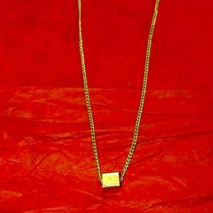 Vintage Avon gold box Necklace